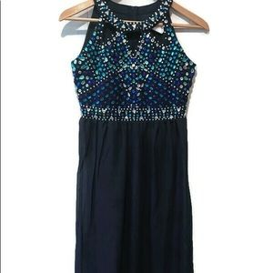 Rare Editions Tween Diva Gown Size 16-Navy